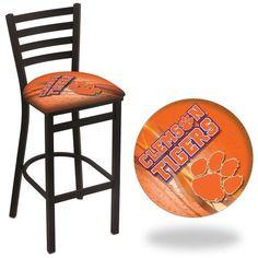 Clemson Tigers D2 Stationary Ladder Back Bar Stool. Visit SportsFansPlus.com for Details.