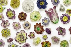 The Peak of Chic®: Everything is Coming Up Rosesceramic flowers