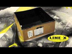 LINE-X Lets You Walk on Water - Waterproof a Cardboard Box with LINE-X Polyurea - YouTube