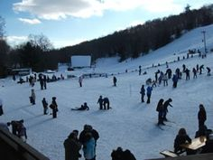 Skiing, snowboarding, and snow tubing in Woodbury, CT at the Woodbury Ski Area.