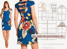 Moldes de vestidos para fiesta de dia para mujer01