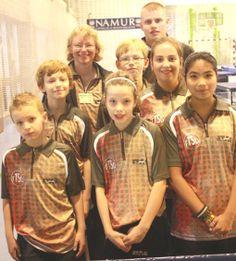 Spelers en TTSD-trainers bij het internationale jeugdtoernooi van het Belgische Namen, 2013
