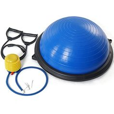 Titan Blue Balance Ball Trainer Yoga Strength Resistance Exercise Workout ** More info could be found at the image url. Pilates Workout, Workout Gear, No Equipment Workout, Gym Workouts, At Home Workouts, Fitness Equipment, Resistance Workout, Resistance Band Exercises, Yoga Exercises