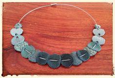 Collana realizzata con ritagli di pelle, #nacklace #leather #ricycle #creative