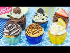 HAZ 6 TIPOS DE CUPCAKES DIFERENTES CON 1 SOLA MASA 🧁   QUIERO CUPCAKES - YouTube Mini Cupcakes, Sweet Cupcakes, Food Cakes, Sweet Recipes, Cake Recipes, Chocolates, Cupcake Youtube, Pineapple Desserts, Cake Pops