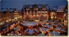 """Christmas Market - Coburg, Germany ... in the shadows of Coburg's imposing """"Veste"""" castle and through the town center, the Coburg market always starts with a candlelight parade led by the Coburg Children's Choir."""