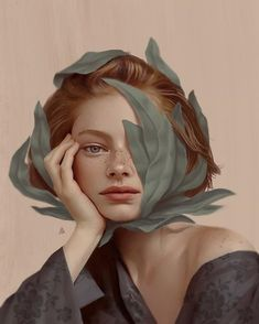 -Turkish Illustrator Creates Surreal Artworks That Will Haunt Your Broken Heart Aykut Aydoğdu (Turkish b. {anatomical surrealism art female head woman face portrait painting} See it Art And Illustration, Animal Illustrations, Portrait Illustration, Illustrations Posters, L'art Du Portrait, Portrait Paintings, Dali Paintings, Digital Portrait Painting, Painting Art