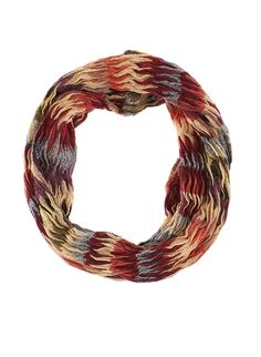 Rainbow Multicolored Crinkle Knit Infinity Scarf