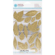 Martha Stewart Crafts Stickers Elegant Nature Leaf