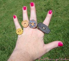 Adorable DIY button Rings!