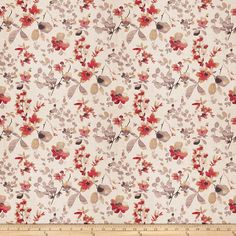 Vern Yip Floral Poppy from @fabricdotcom  From the Vern Yip Collection, this medium weight linen slub fabric has a soft hand and is perfect for window treatments (draperies, valances, curtains and swags), accent pillows, duvet covers and upholstery. Colors include pink, purple, brown and natural.