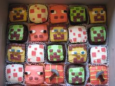 Minecraft Cupcakes! THIS IS IT!!! Using brownies and blondes for Zacks!!! Woooo hooooO!!