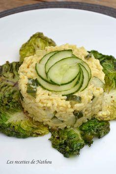 Les recettes de Nathou: Risotto aux courgettes et au curry, sucrines braisées au balsamique