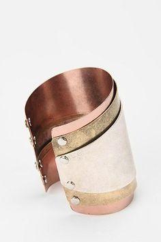 camarillo cuff bracelet, layered metal