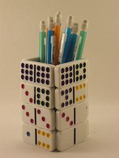 Domino Pencil Holder