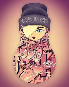 new sister in the hood >> SCHENJA #matroschkabande #matroschka #graffiti #cool #cool😎 #hiphop #Mädchen #girl #love #cute #hipster #instagood #illustration #graphicdesign