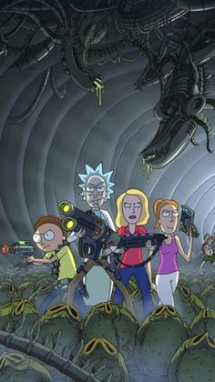 Rick and Morty x Aliens