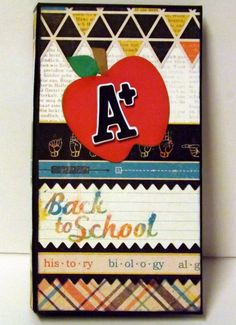 School themed waterfall folio style mini album by CreationsbySweet