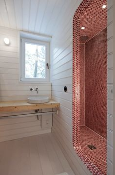 And the best part?  No shower door to clean!