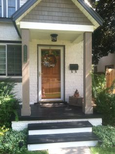 A Marmie Life: Front Door & Porch Redo paint can make such a difference