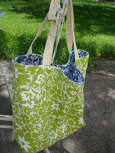 What's THAT Gonna Be?: Summery Dishtowel Totebag Tutorial
