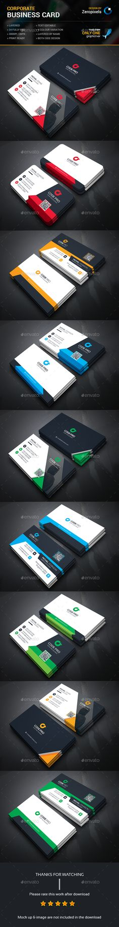 Corporate Business Card Templates PSD Bundle. Download here: http://graphicriver.net/item/corporate-business-card-bundle/15914825?ref=ksioks