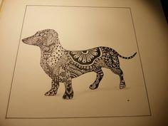 Zentangle dashound
