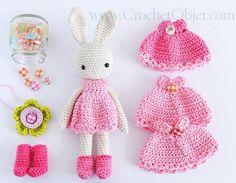 Bastante en rosa - modelo de vestido de conejito - tutorial de bricolaje - CrochetObjet por MoMalron