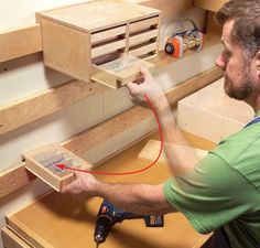 Hyper-Organize Your Shop - The Woodworker's Shop - American Woodworker. Complete instructions.