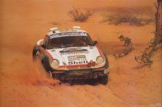 Porsche 959 at Paris Dakar - 1986 Porsche 911, Rallye Paris Dakar, Rally Raid, Car Posters, Rear Wheel Drive, Car Brands, Peugeot, Race Cars, Cool Cars