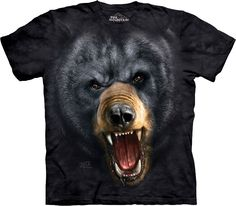 THE MOUNTAIN BLACK BEAR FOREST  BIG FACE ADULT  T SHIRT