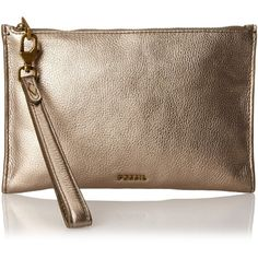 Fossil Item Large Clutch Wristlet ($55) ❤ liked on Polyvore featuring bags, handbags, clutches, wristlet purse, fossil wristlet, fossil purses, cheetah print handbags and brown wristlet