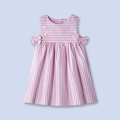 Baby, toddler and kids clothes, children's shoes and accessories - striped cotton dress Baby Girl Dress Patterns, Little Dresses, Little Girl Dresses, Baby Outfits, Toddler Outfits, Kids Outfits, Fashion Kids, Kids Frocks, Toddler Dress
