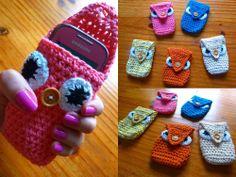 portacelular, crochet