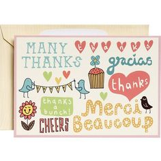 Many Thanks Thank You Notes