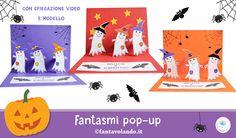 Biglietti Halloween: fantasmi pop-up Pop Up, Halloween, Movie Posters, Movies, English, Art, English Lessons, Art Background, Films