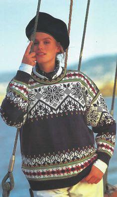 Dale Garn (formerly Dale of Norway) - - Barcelona Fair Isle Knitting Patterns, Sweater Knitting Patterns, Knitting Yarn, Crochet Wool, Knitwear, Norwegian Knitting Designs, Knits, Lillehammer, Jumpers