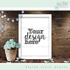 Frame Mockup, Poster Mockup by www.HolyMintStudio.Etsy.com Pixel Size, Editing Skills, Empty Frames, Insert Image, Simple Pictures, Frame Shop, Digital Image, Mockup, Your Design