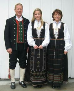 Man's costume from Nordland and women's costumes from Sunnfjord Folk Costume, Costumes, Holiday Iceland, Norwegian Vikings, Scandinavian Fashion, Bridal Crown, Ethnic Fashion, Historical Clothing, Folklore