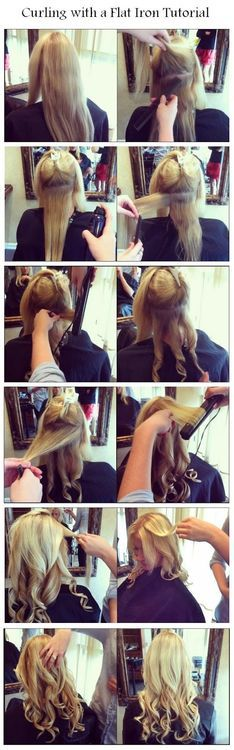 DIY Curling with a Flat Iron Hairstyle DIY Fashion Tips / DIY Fashion Projects on imgfave