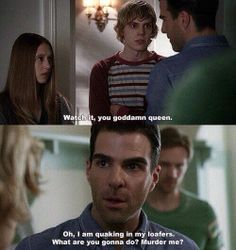 What are you gonna do?  Murder me?  #AHS #Murder #House