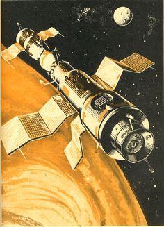 "Russian orbital station ""Salyut-4,"" 1977"
