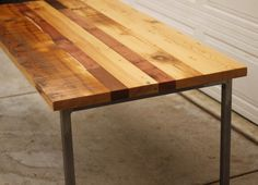 Reclaimed Wood Table With Iron Base Legs As Inspiring Rustic Dining Table Ideas On Concrete Floor Views Custom Reclaimed Wood Table As Rustic Furnishings Designs diy reclaimed wood coffee table, reclaimed wood heart pine, reclaimed wood table top, reclaimed wood table round, rustic round dining table, . 600x434 pixels