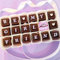 Will You Be My Girlfriend Chocolates and by DiamondChocolates