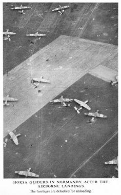 Arnhem, 1944. British Horsa gliders.
