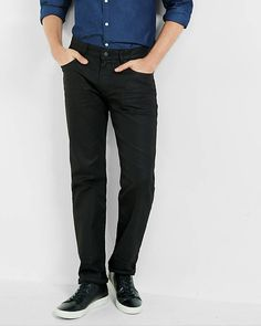 Slim Fit Rocco Black Coated Straight Leg Jean