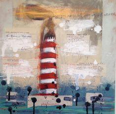 Navigare necesse est, vivere non est necesse Mixed media on canvas 40x40