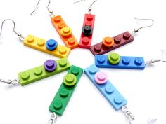 LEGO Upcycling Earrings  play with me  Choose your by ArohaJewelz, €5.00