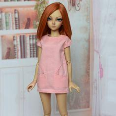 The last one Minifee MSD pink summer dress for BJD.