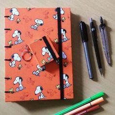 Caderno com estampinha super fofa com Snoopy e seu melhor amigo Woodstock…
